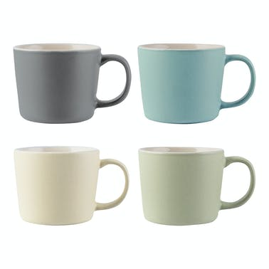 La Cafetiere Set Of 4 Espresso Cups Assorted