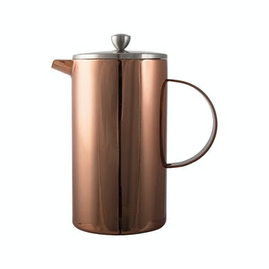 La Cafetiere Double Walled 8 Cup Copper Cafetiere