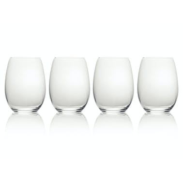 Mikasa Julie Set Of 4 19.75Oz Stemless Wine Glasses