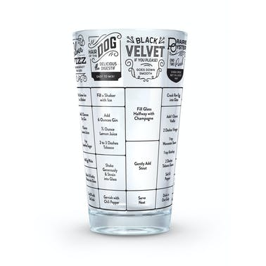 Fred Good Measure Hangover Recipe Glass