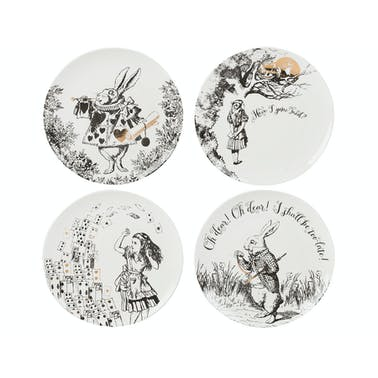 Victoria And Albert Alice In Wonderland Set of 4 Side Plates