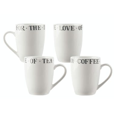 Creative Tops Stir It Up Set Of 4 Small Bullet Mugs White