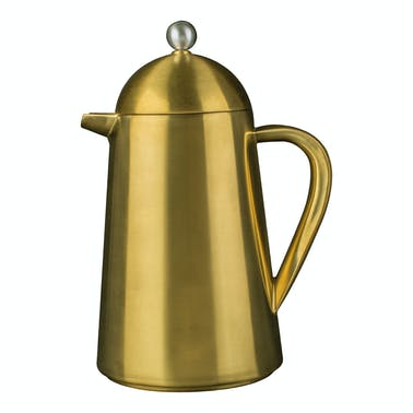 La Cafetiere Edited Thermique Double Walled 8 Cup Cafetiere Brushed Gold