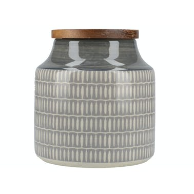Mikasa Drift Storage Jar Grey
