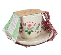 Katie Alice Festival Folk Breakfast Cup And Saucer