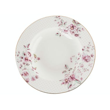 Katie Alice Ditsy Floral Rimmed Soup Plate White
