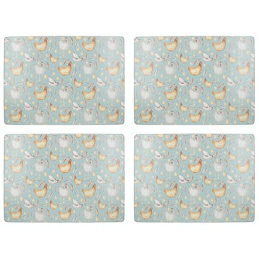 Creative Tops Feather Lane Pack Of 4 Large Premium Placemats