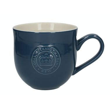 Kew Gardens Richmond Embossed Logo Mug Navy