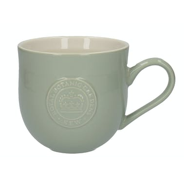 Kew Gardens Richmond Embossed Logo Mug Green