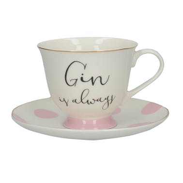 Creative Tops Ava & I Gin And Tonic Cup And Saucer