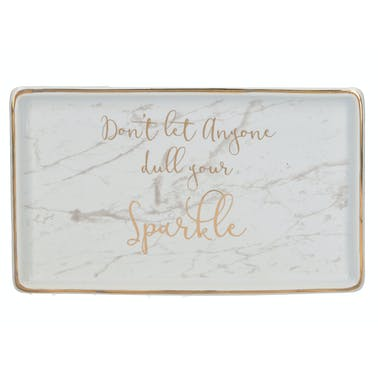 Creative Tops Ava & I Rectangle Trinket Dish - Don't Let Anyone Dull Your Sparkle