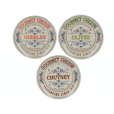 Creative Tops Gourmet Cheese Set Of 3 Serve Dishes
