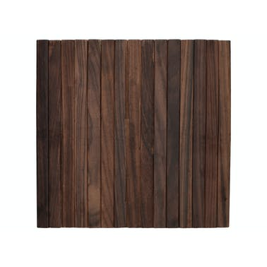 Creative Tops Naturals Pack Of 2 Square Dark Wood Placemats
