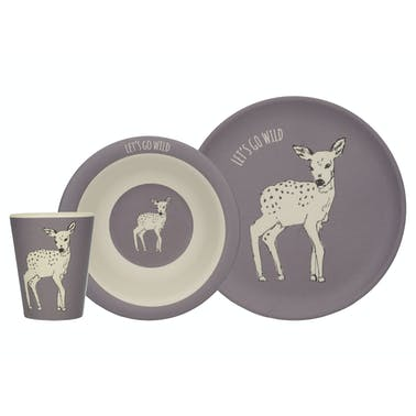 Creative Tops Into The Wild Deer 3 Piece Kids Set