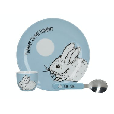 Creative Tops Into The Wild Little Explorer Bunny 3 Piece Breakfast Set