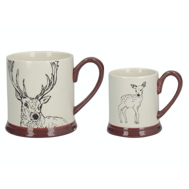 Creative Tops Into The Wild Little Explorer Deer Set Of 2 Mugs