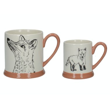 Creative Tops Into The Wild Little Explorer Fox Set Of 2 Mugs