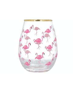 Photo of Creative Tops Ava & I Flamingos Stemless Wine Glass