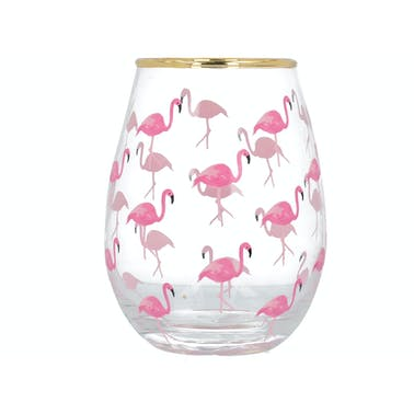 Creative Tops Ava & I Flamingos Stemless Wine Glass