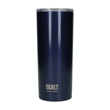 Built 590 ml Double Walled Stainless Steel Water Tumbler Midnight Blue