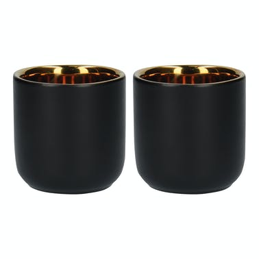La Cafetiere Edited Set Of 2 70ml Double Walled Mugs