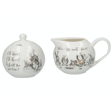 Victoria And Albert Alice In Wonderland Sugar Bowl And Creamer