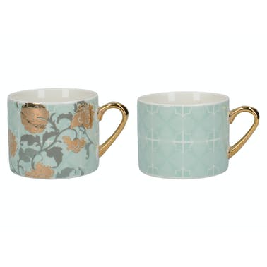 Victoria And Albert Decadence Set Of 2 Espresso Mugs