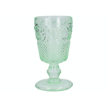 Katie Alice The Collection Stemmed Embossed Goblet Green