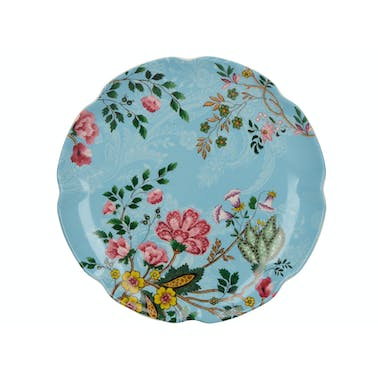 Katie Alice Eastern Flora Canape Plate Teal