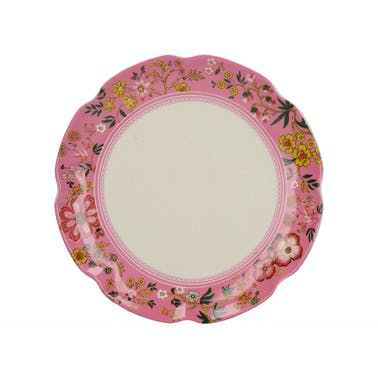Katie Alice Eastern Flora Canape Plate Pink