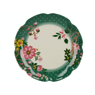 Katie Alice Eastern Flora Canape Plate Green