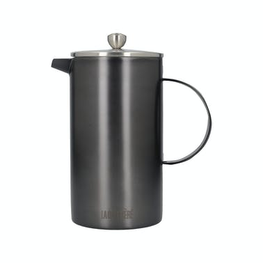La Cafetiere Edited Double Walled 8 Cup Cafetiere Gun Metal Grey