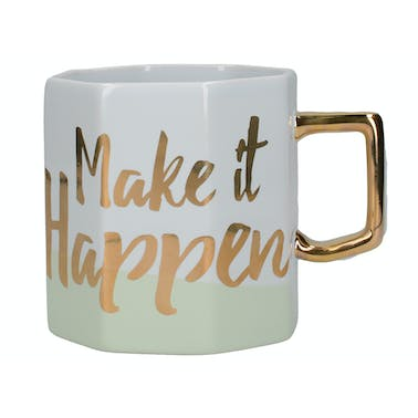 Creative Tops Ava & I Make It Happen Octagonal Mug