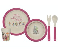 Roald Dahl Charlie And The Chocolate Factory 4 Piece Pressed Bamboo Dinner Set