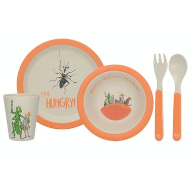 Roald Dahl James And The Giant Peach 4 Piece Pressed Bamboo Dinner Set