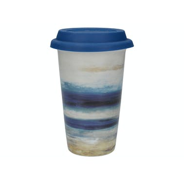 Creative Tops Blue Abstract Travel Mug