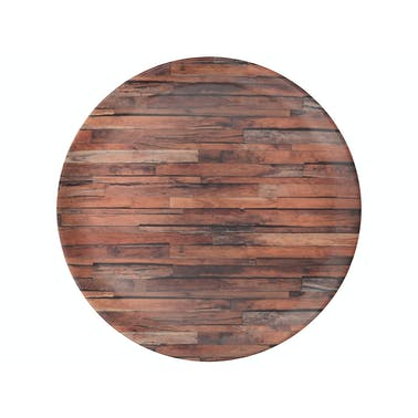 Creative Tops Wood Cabin Round Matte Tray
