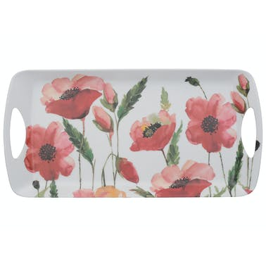 Creative Tops Watercolour Poppy Small Luxury Handled Tray