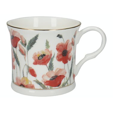 Creative Tops Watercolour Poppy Palace Mug