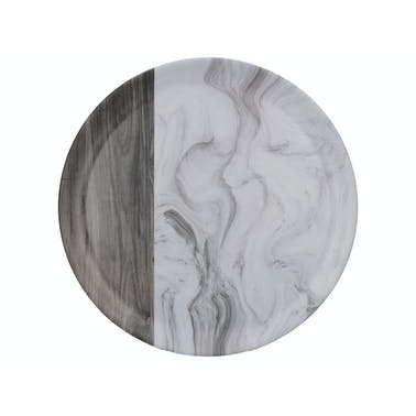 Creative Tops Grey Marble Wood Mix Round Matte Tray