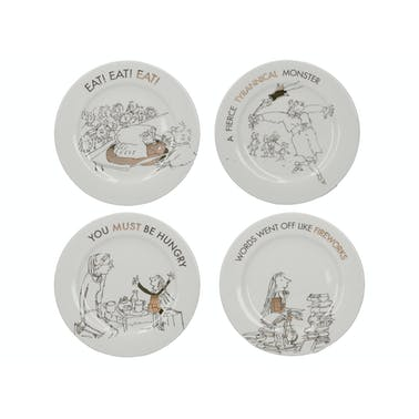 Roald Dahl Matilda Phizz-Whizzing Set Of 4 Side Plates