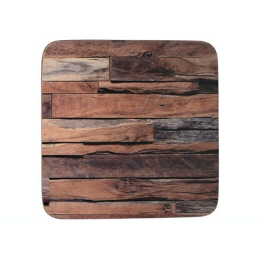 Creative Tops Wood Cabin Pack Of 6 Premium Coasters