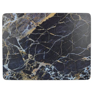 Creative Tops Navy Marble Pack Of 6 Premium Placemats