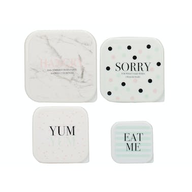 Creative Tops Ava & I Set Of 4 Snack Tubs