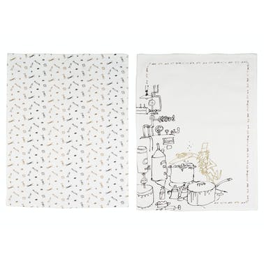 Roald Dahl Charlie And The Chocolate Factory Phizz-Whizzing Tea Towel