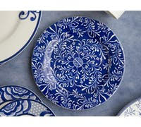 Victoria And Albert The Cole Collection Navy Floral Side Plate