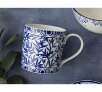 Victoria And Albert The Cole Collection Floral Geo White Mug
