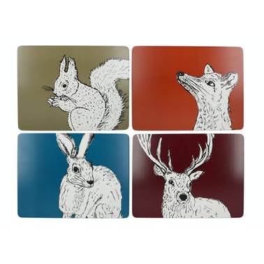 Creative Tops Into The Wild Pack Of 4 Premium Placemats