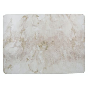Creative Tops Grey Marble Pack Of 4 Large Premium Placemats