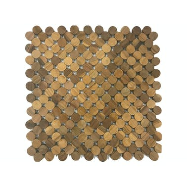 Creative Tops Naturals Pack Of 2 Circle Wood Placemats